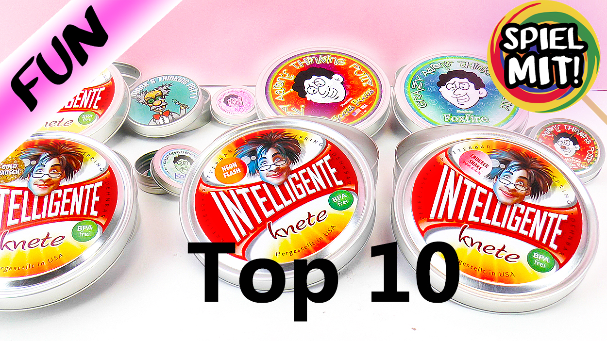 TOP 10 Intelligente Knete + crazy Aarons Thinking Putty