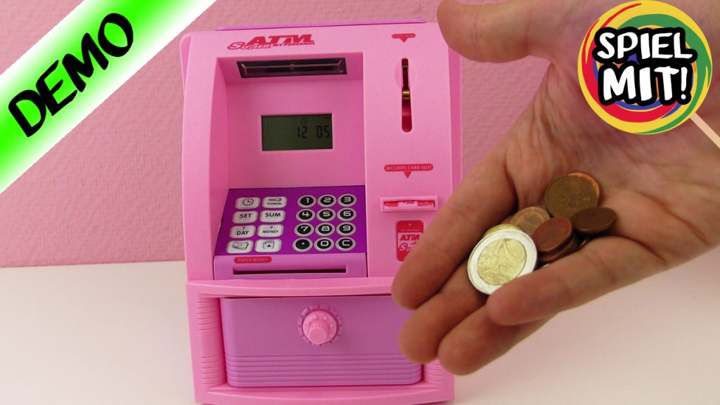 GLAMOUR GELDAUTOMAT FÜR ZUHAUSE! Banken hassen diesen Automaten! Pinke Spardose mit Anzeige!