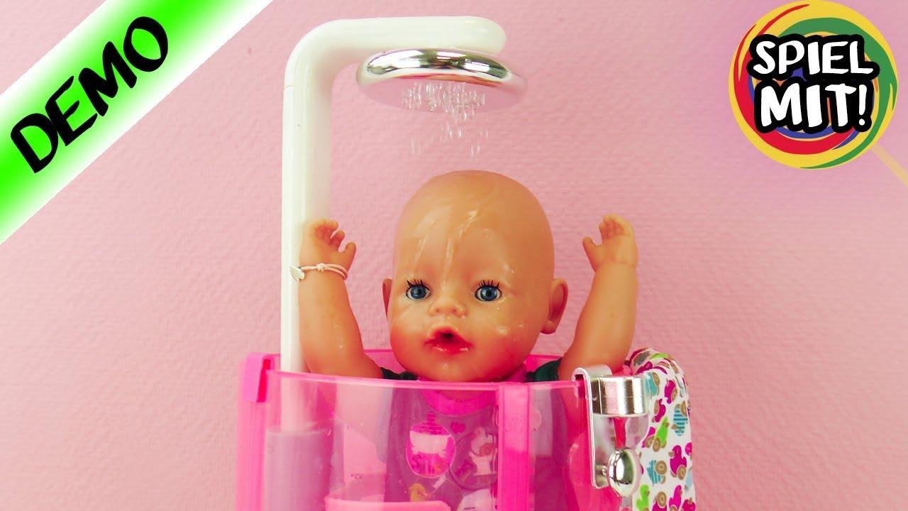 Baby Born deutsch BADEN in der neuen REGEN DUSCHE   Badespaß für Baby Born & Sister   Zapf Creation