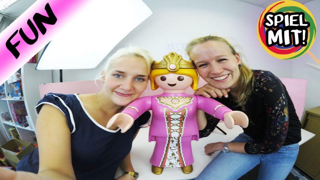 Playmobil XXL Prinzessin trifft Spiel mit mir KinderSpielzeug | VLOG Follow me around mit Nina Kathi