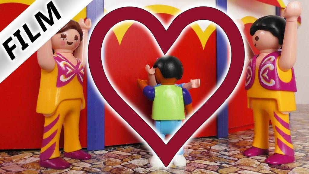 Playmobil Film Knutschen hinter dem Zirkuszelt